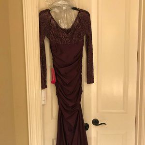 NEW Atria Designs Long, Lace Bodice Gown